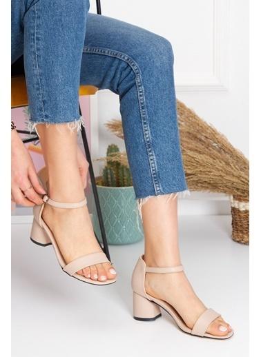 Derithy Losya Topuklu Ayakkabı-Rose-Byc1308 Ten